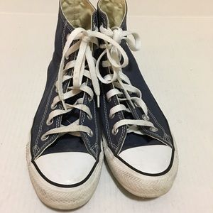 Converse All Star Blue high top Chuck Taylor sz 8