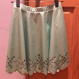 Seafoam blue/green skirt