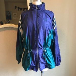 Vintage Adidas trefoil windbreaker