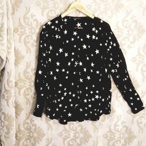 Zara Size M star pattern hi low blouse