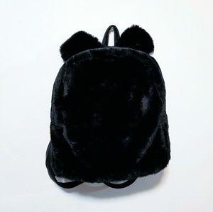 🍁Just In🍁Black Bunny Ear Plush Bookbag