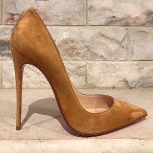 Christian Louboutin So Kate 120 Yellow Laiton Gold