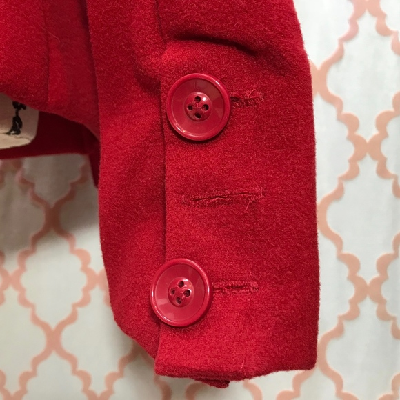 Dollhouse - Red High Neck Juniors Wool Blend Peacoat. Large from ...