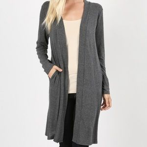 Sweaters - ‼️Last one‼️Long open front Cardigan