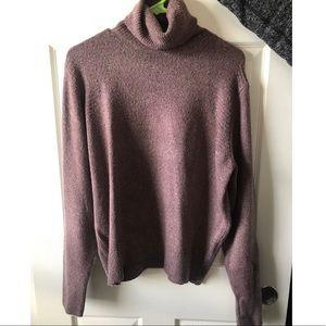 Cozy purple turtle neck sweater