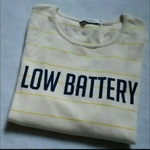 Zara Low Battery Logo Tee