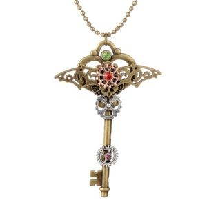 🔑 New list! 🔑 Flying key steampunk necklace