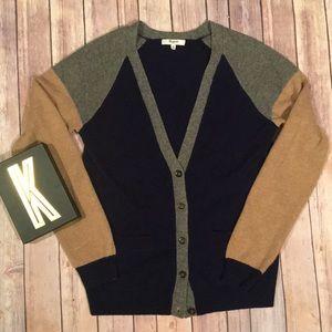 MADEWELL Merino Wool Color Block Sweater Size M