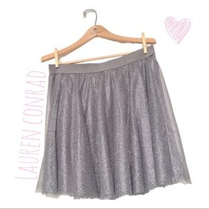 Sparkly gray skirt