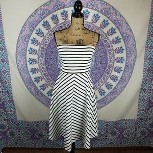Women's The Limited strapless striped dress
