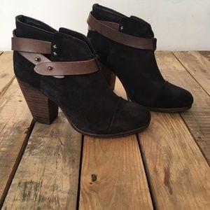 Rag and bone Black Suede Harrow Ankle Boot 7.5 EUC