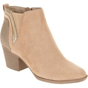 Taupe Shimmer Booties
