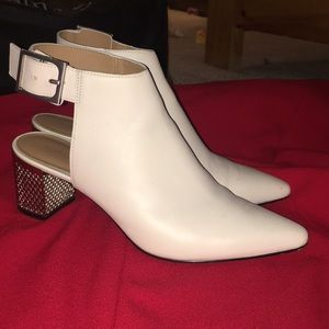 Calvin Klein Ivory Ankle Boots