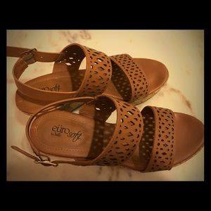 Tan leather sandal