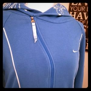 Nike FITDRY Blue Jacket With Floral Hood