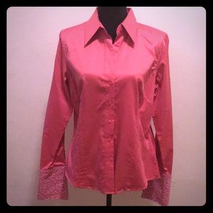 Thomas Pink Pink Fitted Shirt w/ French Cuffs