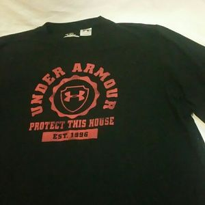 """Men's Under Armour heat gear """"protect this house"""""""