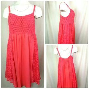 TORRID Size 1 Dress Dark Salmon Pink Sleeveless