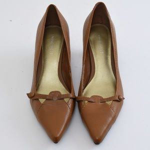 {Nine West} Brown Heels Point Toe Size 5-1/2