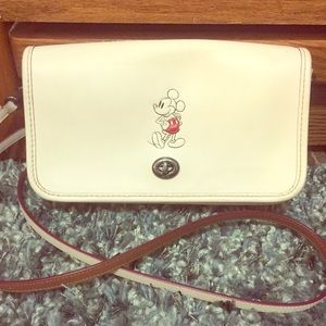 Mickey Mouse Coach Crossbody Purse and Wallet