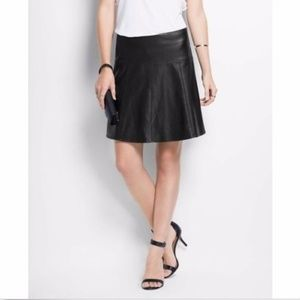 Ann Taylor Faux Leather Skirt