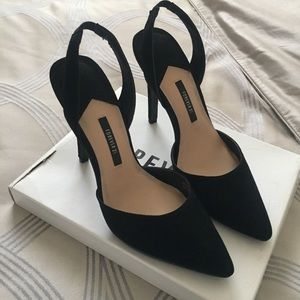 Forever 21 Faux Suede Sling Back Pumps