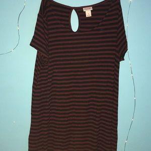 T-shirt striped dress
