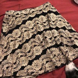 Gold/Black Mini Skirt