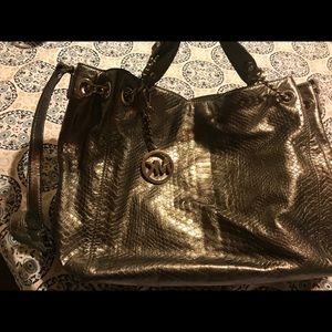 Michael Kors Metallic Leather bag