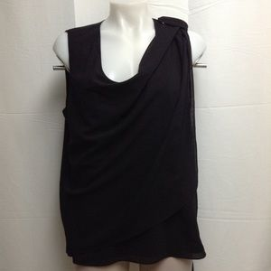 Ann Taylor Women's Sleeveless Top Black Size 14