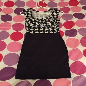 Houndstooth print Bodycon dress