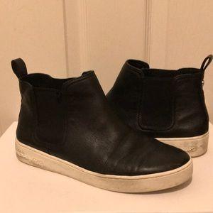Michael Kors leather high top Chelsea sneaker