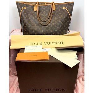 Authentic Louis Vuitton Neverfull GM Monogram