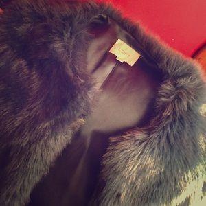 Long sleeve blue furry jacket
