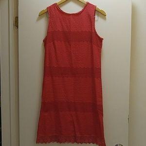 Max Studio 100% Cotton Semi-Crochet Dress