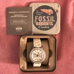 Women's Fossil Watch with Rhinestones