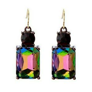 NEW Rainbow Elegant Crystal Cocktail Earrings
