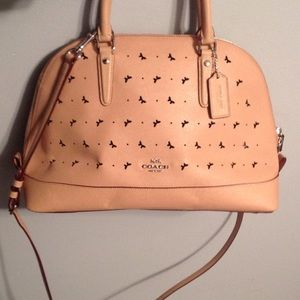 Coach Perforated Butterfly Crossbody Satchel