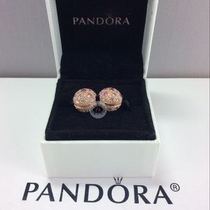 New Boxed Pandora Rose Cosmic Stars Clips