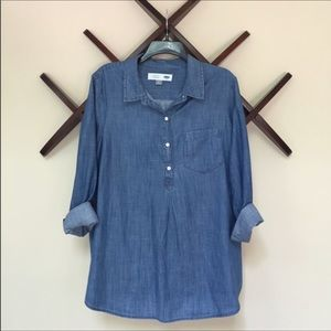 Old Navy - Chambray Maternity Button-up Top