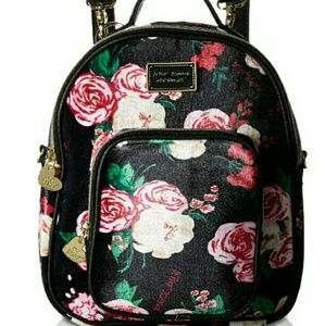 Betsey Johnson Floral Convertible Backback