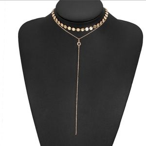 Double layer necklace Bnwt