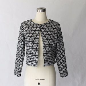 Eloa Geometric Knit Open Front Jacket NWOT