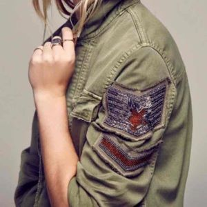 NEW! Free People Military Jacket