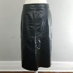 Gap | Vintage long leather skirt