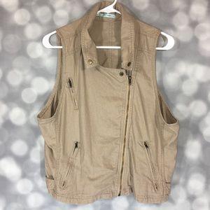 Maurices - Tan Linen Blend Vest