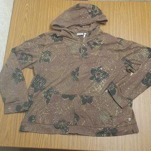 Chico's Zenergy Plus Brown Hoodie Jacket