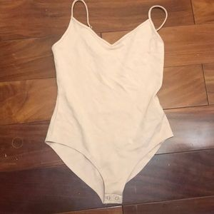 Coral pink forever 21 body suit