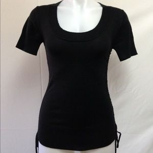 XOXO Women's Stretchable Top Black Size Small