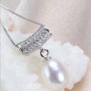 Pearl Silver Pendant w/chain